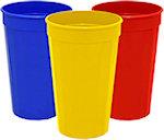 22oz Blank Fluted Stadium Cups
